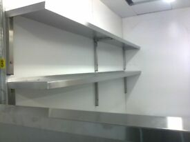 Shelving tables sinks>>stainless steel