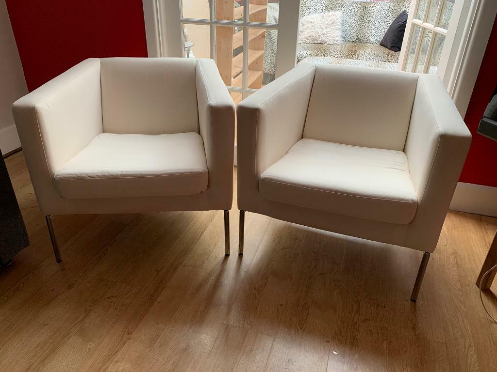 Ongekend Pair of cream Ikea Klappsta armchairs | in Chandlers Ford RB-14