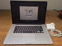 "Apple MacBook Pro Retina 15.4"" Mid-2015 Apple Care 2.2GHz i7 256GB SSD"