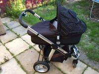 iCandy Black Magic Pram with travelcot