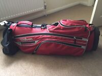 Good condition red Wilson golf bag