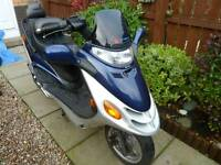 Kymco Spacer 50 cc scooter / moped. 1 yr MOT. Very low mileage.