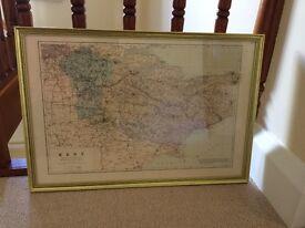Antique framed map of Kent