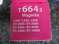 Genuine Epson 70cl cartridges, one yellow and two magenta bought for Epson eco printer model C462J