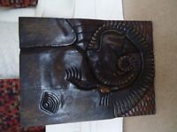 CARVED ELEPHANT PICTURE
