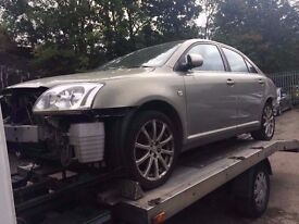 BREAKING 2004 TOYOTA AVENSIS 1.8 T3-S - BREAKING FOR SPARES / PARTS, ALL BODY PARTS AVAILABLE