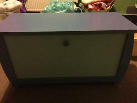 Kids toy box storage blue