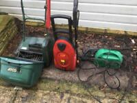 Lawn Scarifying and 2 x pressure washers