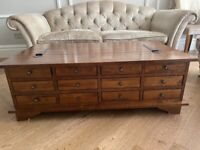 Garrat 12 drawer coffee table