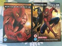 Spider-Man 2&3 DVD's