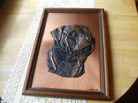 """A Vintage Magowan Copper Art Original. Rottweiler. 19"""" X 13"""" ."""