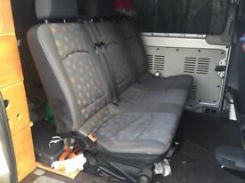 Mercedes Vito 639 rear seat with fittings fit 2004 on bargain £400 o.v.n.o