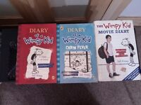 Dairy of a wimpy kid books x3
