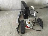 NINTENDO Wii CONSOLE. BLACK. WITH CONTROLLERS