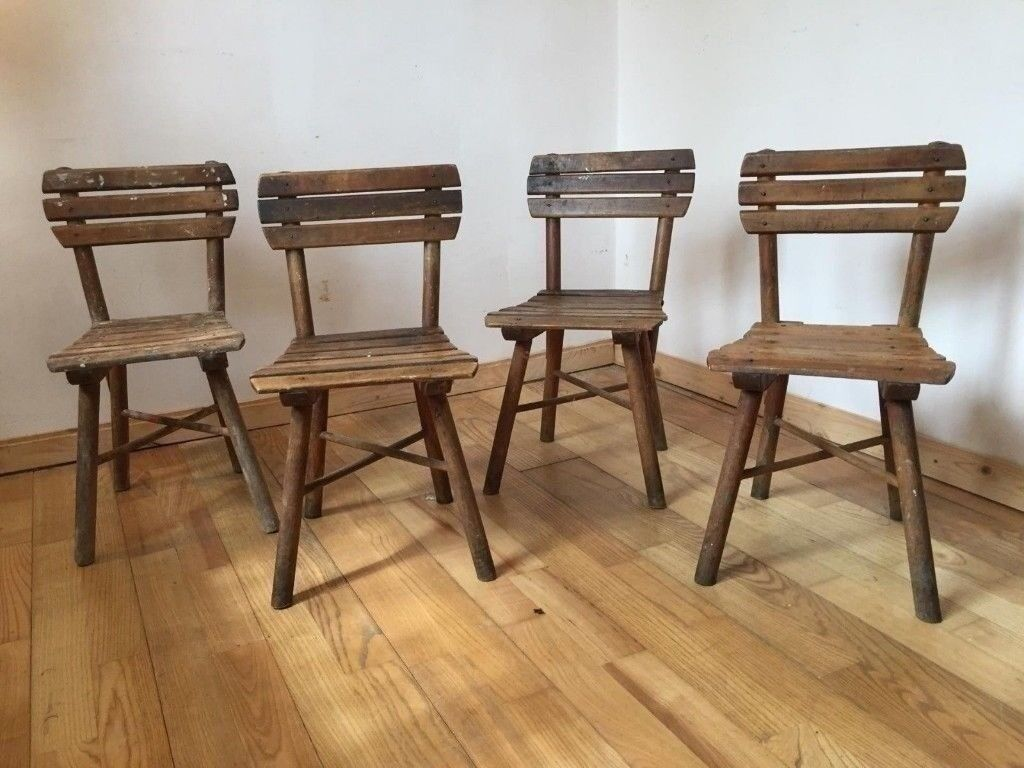 4x Antique Children's Chairs Wooden Rustic Seating Photography or Childcare  Café Kids   in Hackney, London   Gumtree - 4x Antique Children's Chairs Wooden Rustic Seating Photography Or