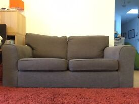 Next 2-seat/double sofa bed, brown