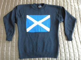 """Unisex """"Saltire"""" """"St Andrews cross"""" jumper, ideal for football, rugby etc"""