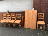 Ikea dining table and 5 chairs
