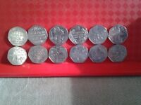 Various 50p coins
