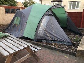 6 man tent (3 bedrooms)