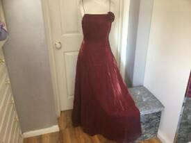 Beautiful red /burgandy Prom occasion dress from Debenhams size 12