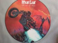 "MEATLOAF BAT OUT OF HELL RARE 12"" PICTURE DISC LIMITED EDITION"