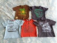 Bundle of Clothes Short Sleeve Tee-Shirt Top Nearly New Boy 1 - 1 1/2 years