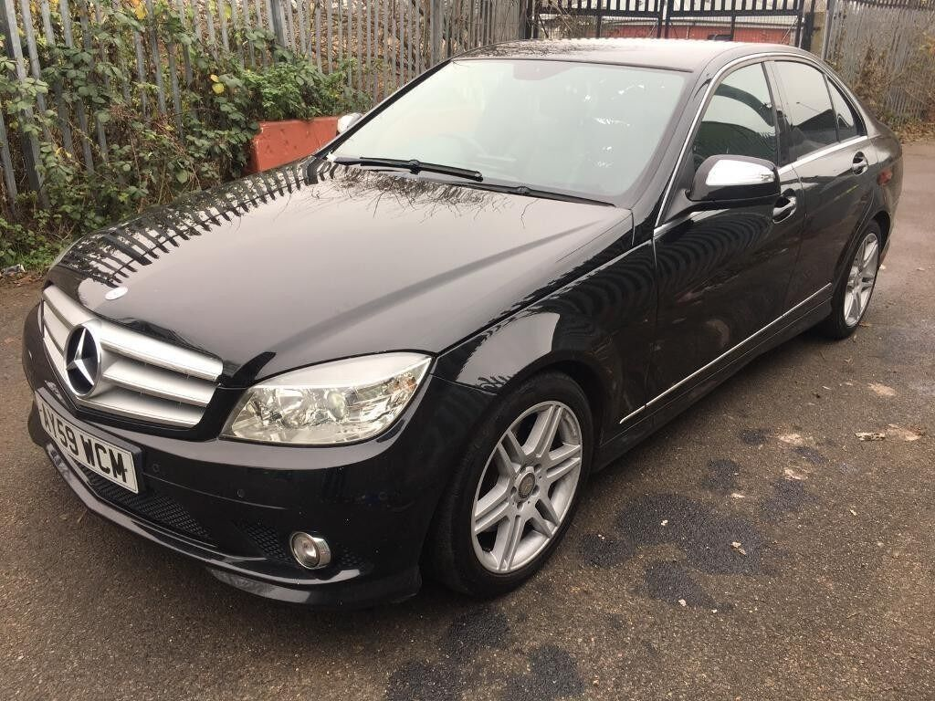 mercedes benz c class saloon 2009 3 0 c320 cdi sport 7g tronic 4dr automatic black in. Black Bedroom Furniture Sets. Home Design Ideas