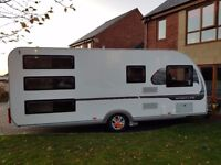 Adria Sportline 542DT 2015 7 Berth caravan with triple fixed bunks, motor mover and air awning