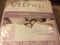 Luxury heated double cotton duvet