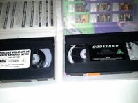 A selection of VHS video tapes for sale