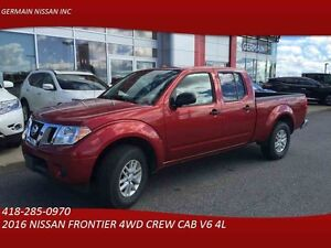 2016 NISSAN FRONTIER 4WD CREW CAB AUTO-CRUISE-BLUETOOTH-TAUX D'I