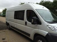 citroen relay lwb campervan. Brand new eco-friendly conversion. All timber used is reclaimed pine