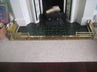 brass fire place fender