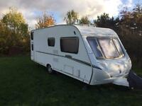 Abbey Vogue 540 6 berth Caravan 2007 with fixed rear bunks. Awnings/Motormover.
