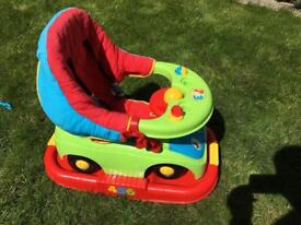 Kids rocker and ride on car. Good condition