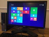 Dell Optiplex 9010 / i5 3570s Quad Core PC / 8GB Ram + DELL Pro Screen Desktop Computer with Office