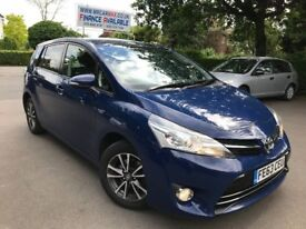FINANCE £166 PR MONTH SOLD WITH PCO TAXI LICENCE 7 SEATER 2013 TOYOTA VERSO ICON 2.0 SATNAV REV CAM