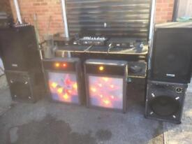 Complete mobile disco, with trailer to transport