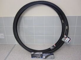 Hybrid Bicycle Tyres and Inner Tubes x2