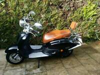 2007 tamoretti 50cc retro vespa style moped 6 months Mot ready to ride