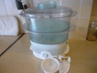 quality tefal vegetables steamer,in perfect working condition,very good , only £9. stanmore , middx.