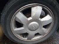 "Hyundai Matrix Alloys wheels set of 4 suitable for 2002-7 size 15"""