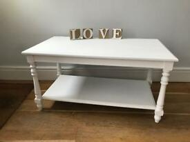 Decorative solid coffee table