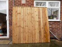 Heavy Duty Wooden Timber Fence Panel -Select Size from 3ft,4ft,5ft&6ft