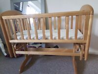 John lewis Anna Glider crib with mattress
