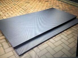 Gymnastics Dance Crash Mat BLACK 2m x 1m x 50 mm (MMA / Judo / BJJ) Waterproof