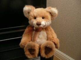 """Charlie Bears Fernando 15"""" Plush Bear Brand New (ONLY AVAILABLE FROM QVC)"""