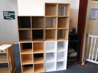 Cube Bookcases, Various Sizes, Colours and Prices