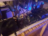 6x RX580 Cryptocurrency/bitcoin/ethereum mining rig